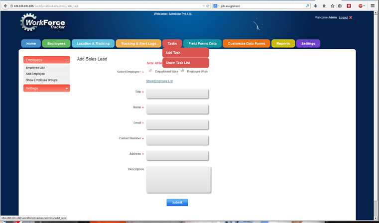 Field Service and Sales Dispatch Software for timesheet, job